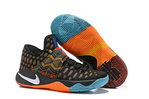 Cheap Wholesale Nike Kyrie Irving 2.5 Orange Black Blue White