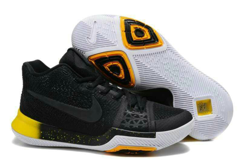 Cheap Wholesale Nike Kyrie Irving 3 III Black Yellow White