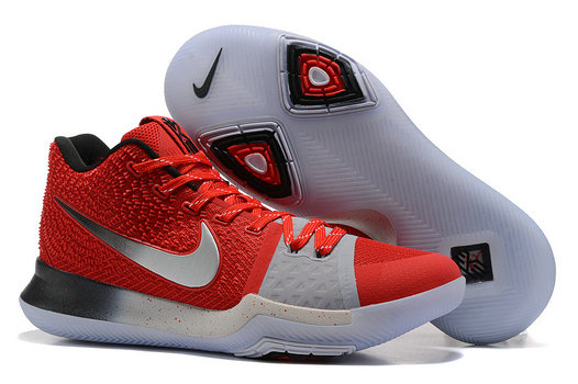 Cheap Wholesale Nike Kyrie Irving 3 III Red Silver Grey