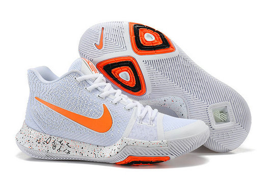 Cheap Wholesale Nike Kyrie Irving 3 III White Orange