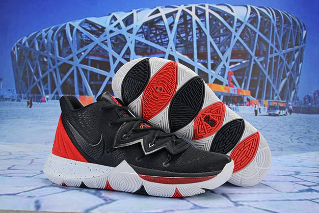 Cheap Wholesale Nike Kyrie Irving 5 Red Black White