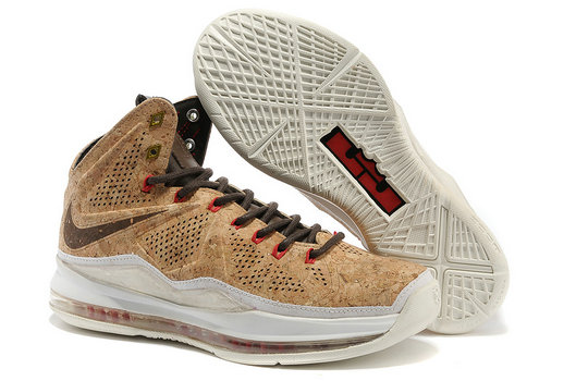 Cheap Wholesale Nike LeBron 10 EXT QS Cork Brown