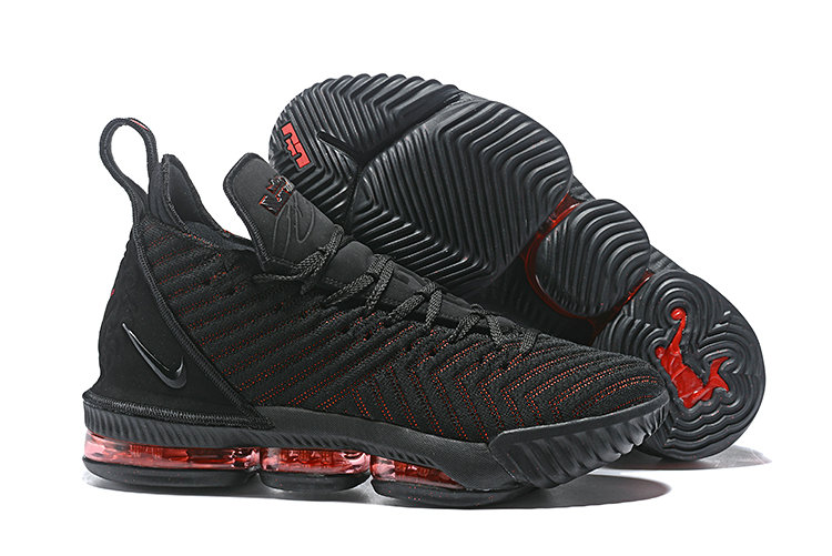 d695ba38ef36 Wholesale Cheap Nike LeBron 16 Fresh Bred AO2595-002 Black University Red