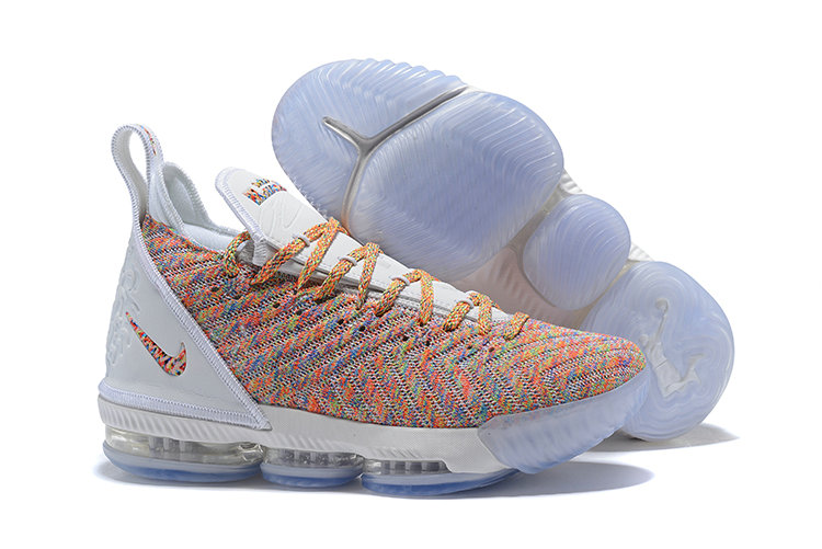Wholesale Cheap Nike LeBron 16 Multicolor Against Spurs