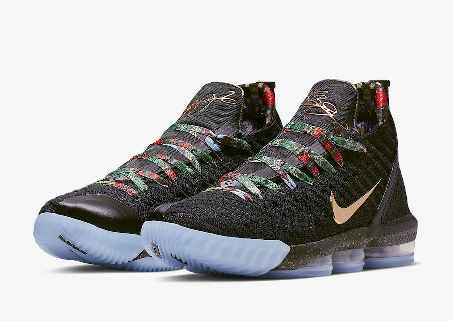 quality design cb021 b79ca Wholesale Cheap Nike LeBron 16 Watch The Throne Black Metallic Gold-Rose  Frost CI1518-