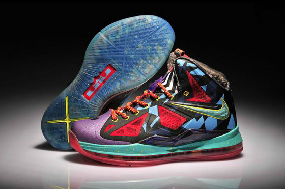 Cheap Wholesale Nike Lebron 10 MVP Womens Red Green Blue Yellow Purple