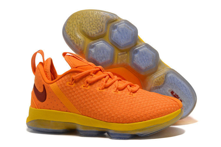Cheap Wholesale Nike Lebron 14 Low Knight Yellow