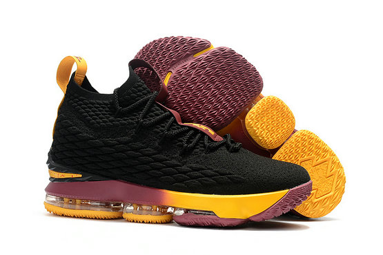 Cheap Wholesale Nike Lebron 15 Black Purple Yellow