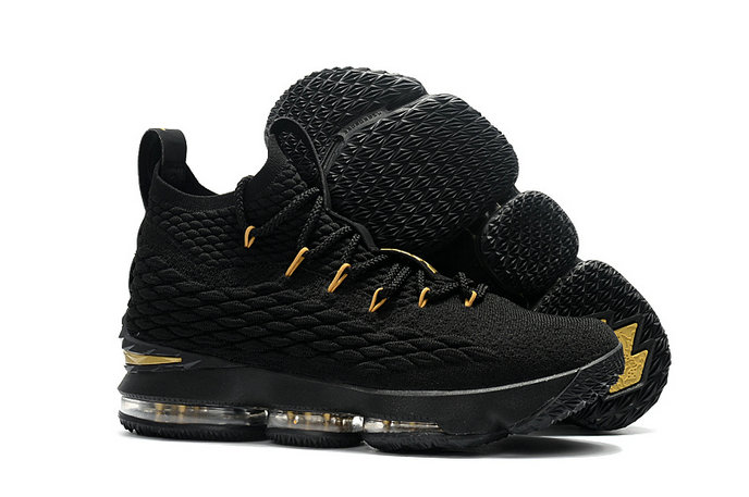 Cheap Wholesale Nike Lebron 15 Gold Black