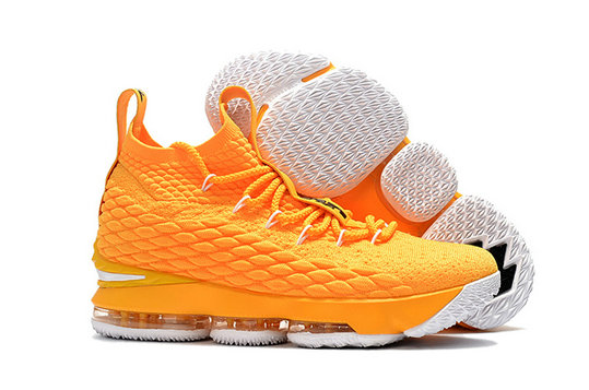 Cheap Wholesale Nike Lebron 15 White Yellow Black