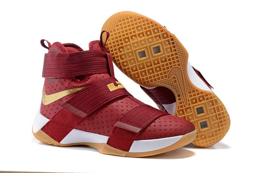 Cheap Wholesale Nike Lebron Soldier 10 X Gold RED Black