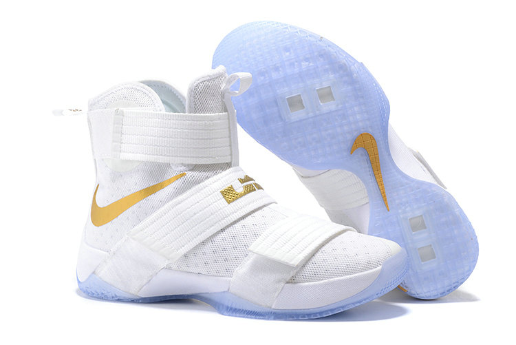 Cheap Wholesale Nike Lebron Soldier 10 X Gold White