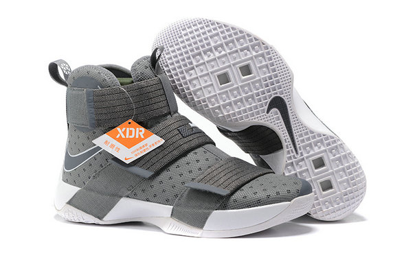 Cheap Wholesale Nike Lebron Soldier 10 X Grey White