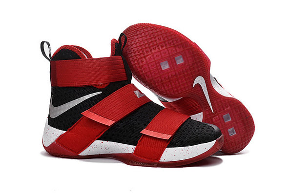 Cheap Wholesale Nike Lebron Soldier 10 X Red Black White Silver