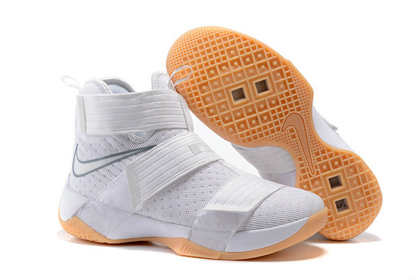Cheap Wholesale Nike Lebron Soldier 10 X White Gold