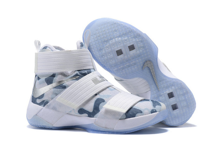 Cheap Wholesale Nike Lebron Soldier 10 X White Silver