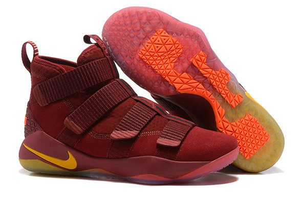 Cheap Wholesale Nike Lebron Soldier 11 PE Wine Red Black Orange