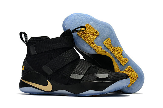 Cheap Wholesale Nike Lebron Soldier 11 Womens Black Gold Yellow