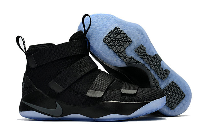 Cheap Wholesale Nike Lebron Soldier 11 Womens Black Light Blue