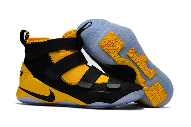 Cheap Wholesale Nike Lebron Soldier 11 Womens Black Yellow