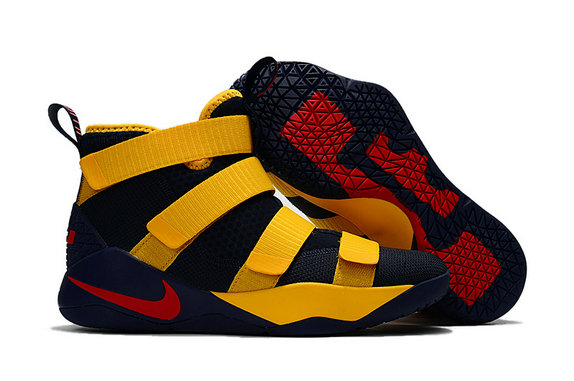 Cheap Wholesale Nike Lebron Soldier 11 Womens Blue Black Yellow Red