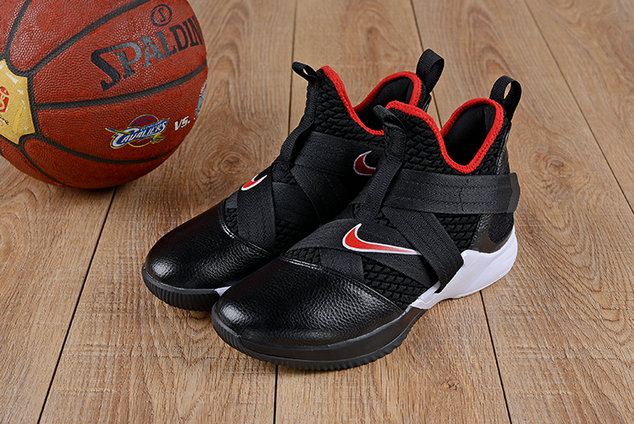 Cheap Wholesale Nike Lebron Soldier 12 (XII) Fire Red White Black