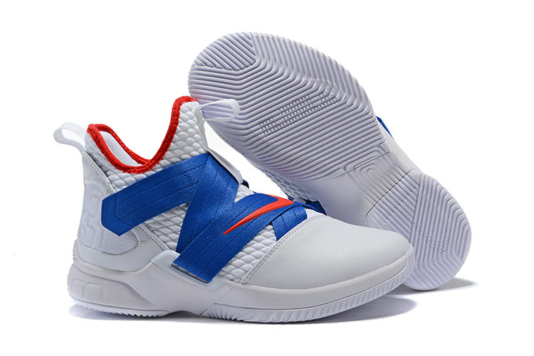 Cheap Wholesale Nike Lebron Soldier 12 Blue Red White Black