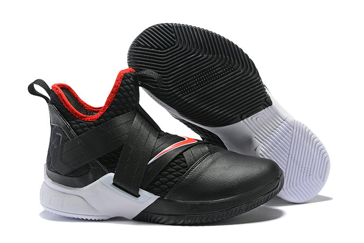 Cheap Wholesale Nike Lebron Soldier 12 Red Black White