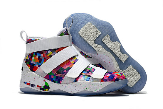 Cheap Wholesale Nike Lebron Soldier James 11 Rainbow