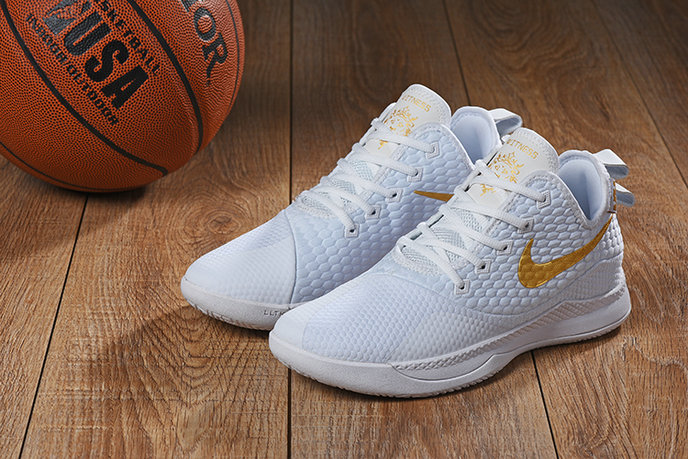 Wholesale Cheap Nike Lebron Witness 3 Gold White