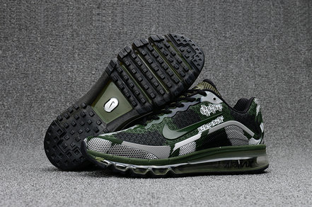 Cheap Wholesale Nike Mens Air Max 2017 Camouflage Army Green Grey Black