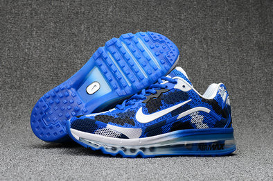 Cheap Wholesale Nike Mens Air Max 2017 Camouflage Blue White Black
