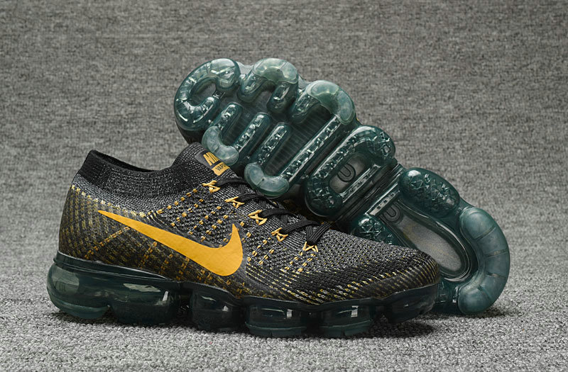 Cheap Wholesale Nike Nike Air VaporMax Flyknit Gold Black Sportwear