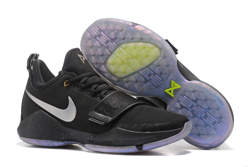 Cheap Wholesale Nike PG 1 Mens Basketball Shoes Black Silver Grey