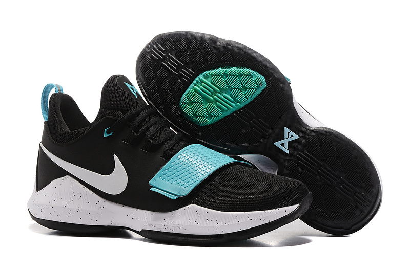 Cheap Wholesale Nike PG 1 Mens Basketball Shoes Green Black White