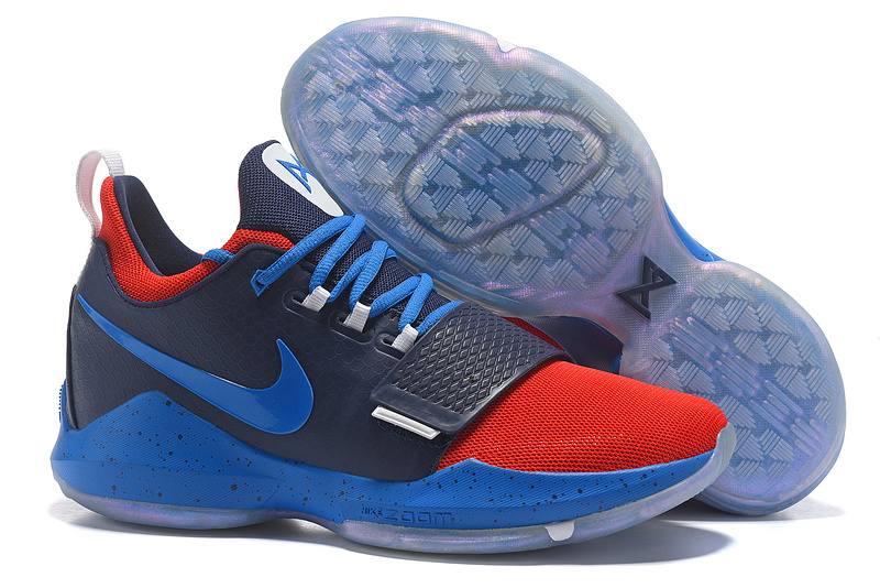 Cheap Wholesale Nike PG 1 Mens Basketball Shoes Navy Blue Red