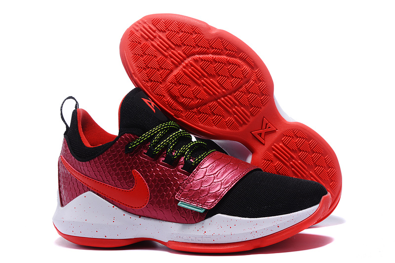 8af54b780a6 Cheap Wholesale Nike PG 1 Mens Basketball Shoes Red Black White