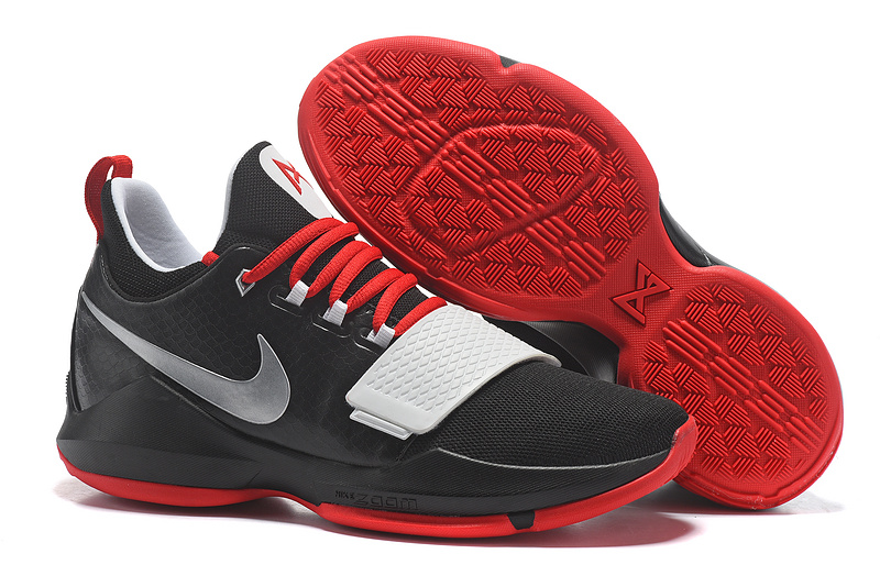 Cheap Wholesale Nike PG 1 Mens Basketball Shoes Red White Black