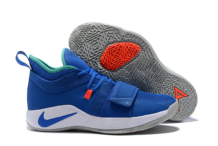 Cheap Wholesale Nike PG 2.5 EP Basketball Blue White Orange Green