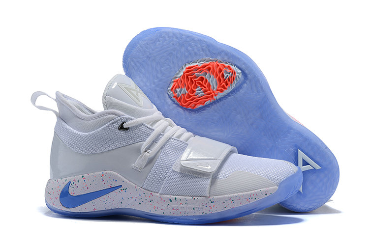 Cheap Wholesale Nike PG 2.5 EP Basketball White Blue Pink