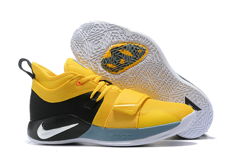 Cheap Wholesale Nike PG 2.5 EP Basketball Yellow Black Grey White