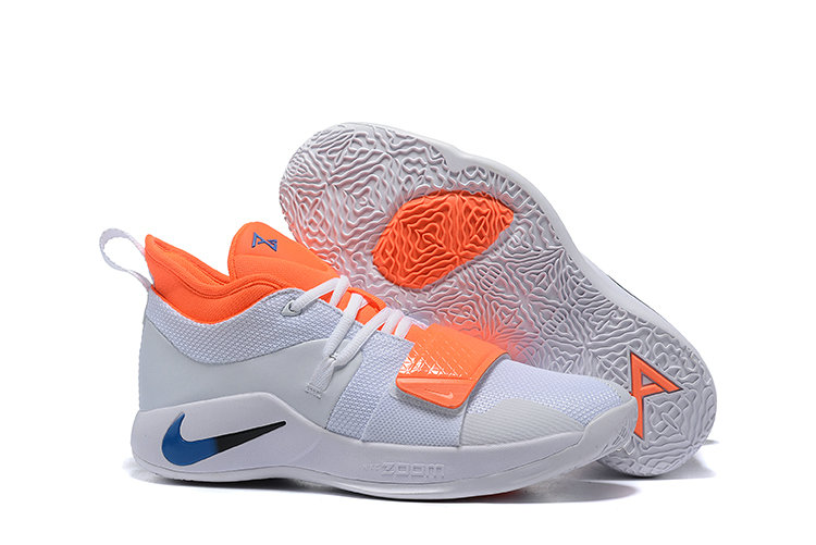 Wholesale Cheap Nike PG 2.5 Team Orange White Blue Black