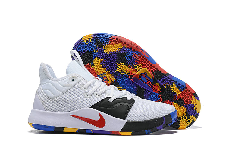 Wholesale Cheap Nike PG 3 White Black Red Colorful