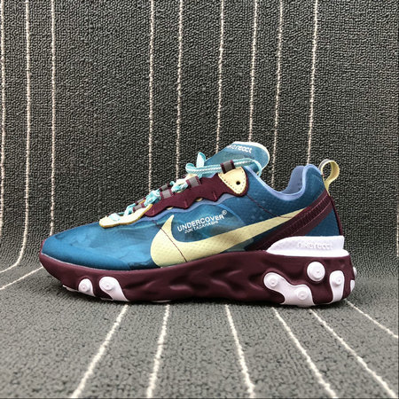 Cheap Wholesale Nike React Element 87 Undercover Aqua Volt Purple Blue Bleu Volt Bleu Violet