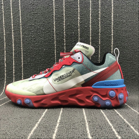 Cheap Wholesale Nike React Element 87 Undercover Cream ColorRed White Big Red Beige Blanc Rouge