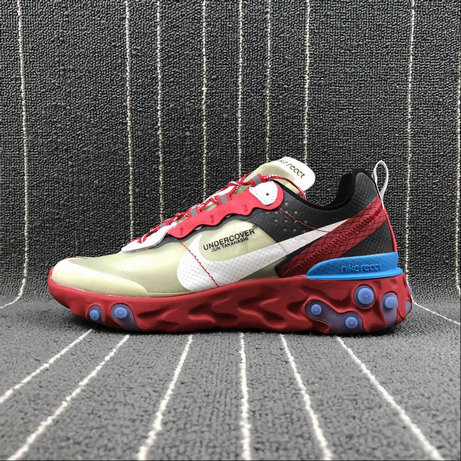 Cheap Wholesale Nike React Element 87 Undercover Hyaline Big Red White Blanc Transparent Rouge