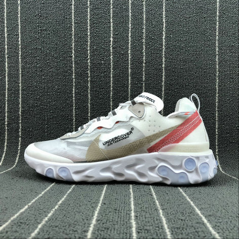 Cheap Wholesale Nike React Element 87 Undercover Hyaline Big Red-White Blanc Transparent Rouge Blanc