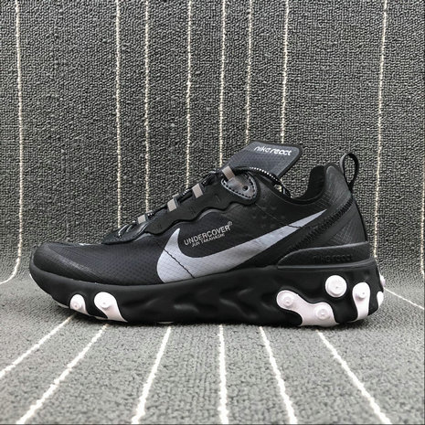 Cheap Wholesale Nike React Element 87 Undercover White Noir Blanc Black