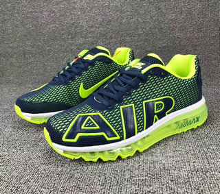 Cheap Wholesale Nike SportWear Mens Air Max Flair Fluorescent Green Blue White