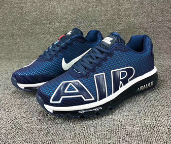 Cheap Wholesale Nike SportWear Mens Air Max Flair Royal Blue White